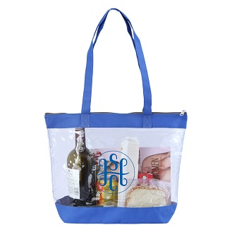 Picture of Clear Tote Zip Top Closure