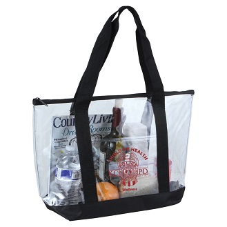 Picture of Clear Boat Tote with Zip Top Closure