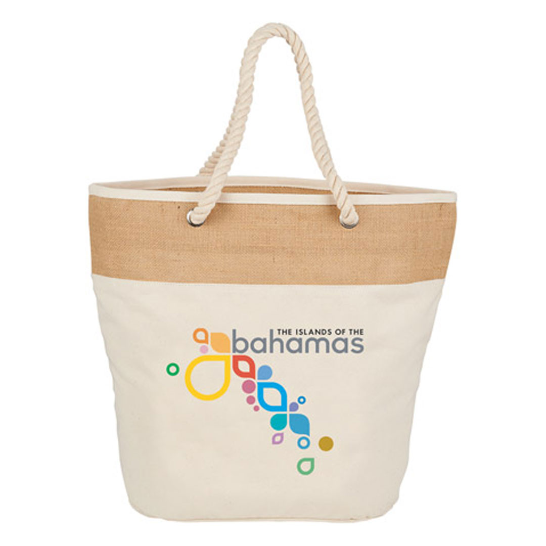 Picture of 12 oz. Cotton/Jute Rope Reusable Tote