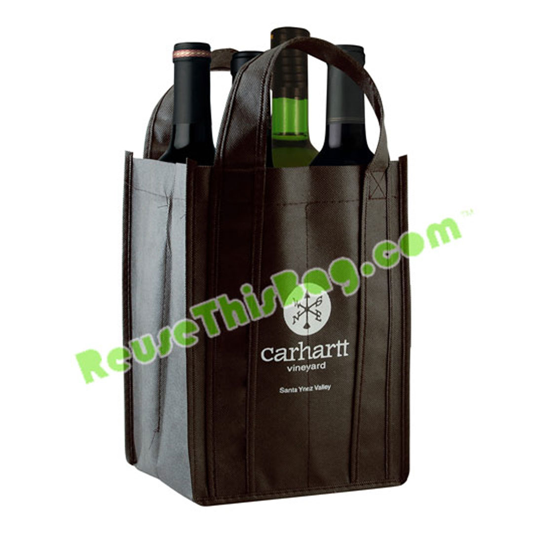 Picture of 4 Bottle Wine Tote Bag