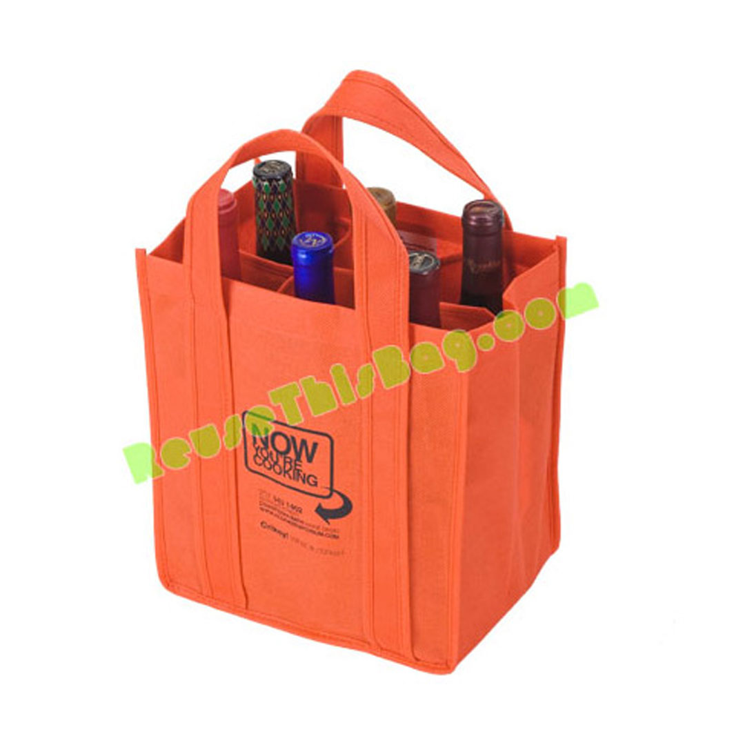 Picture of 6 Bottle Reusable Import Wine Bag