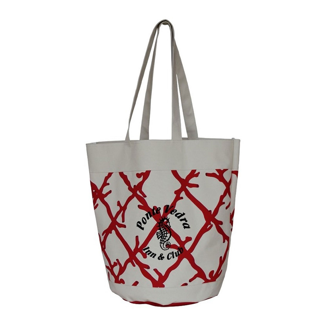 Picture of Coral Lattice Beach Tote Bag