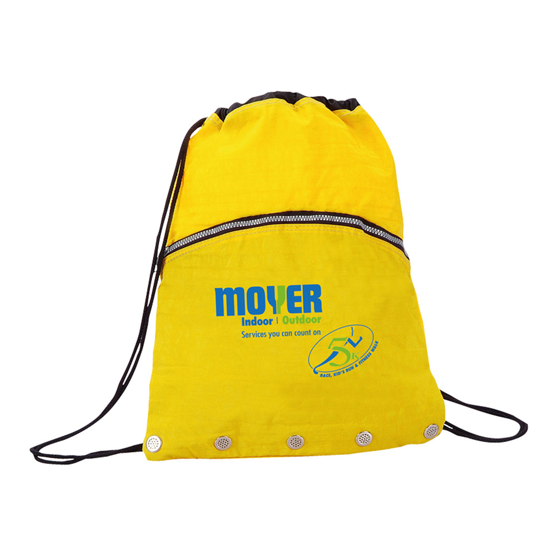 Picture of Crinkled Nylon Drawstring Backpack