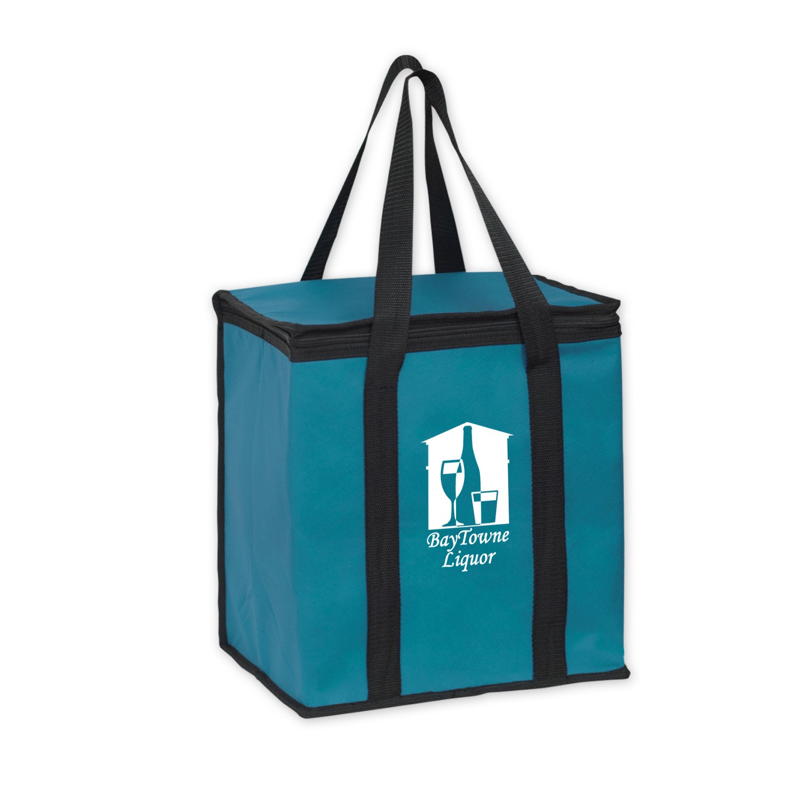 Picture of Insulated Square Cooler Bag with Zipper