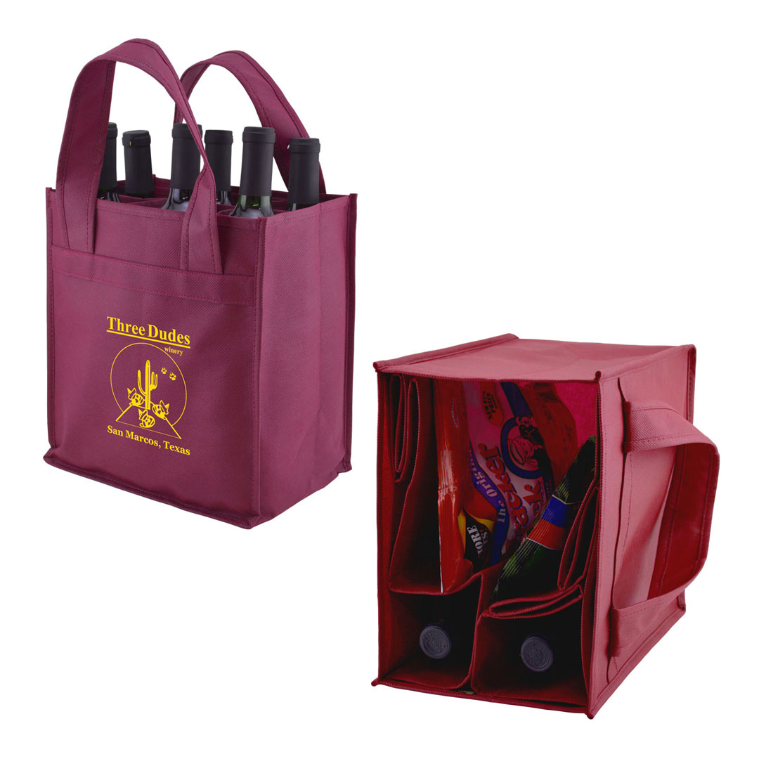 Picture of Logo-Max 6 Bottle Tote