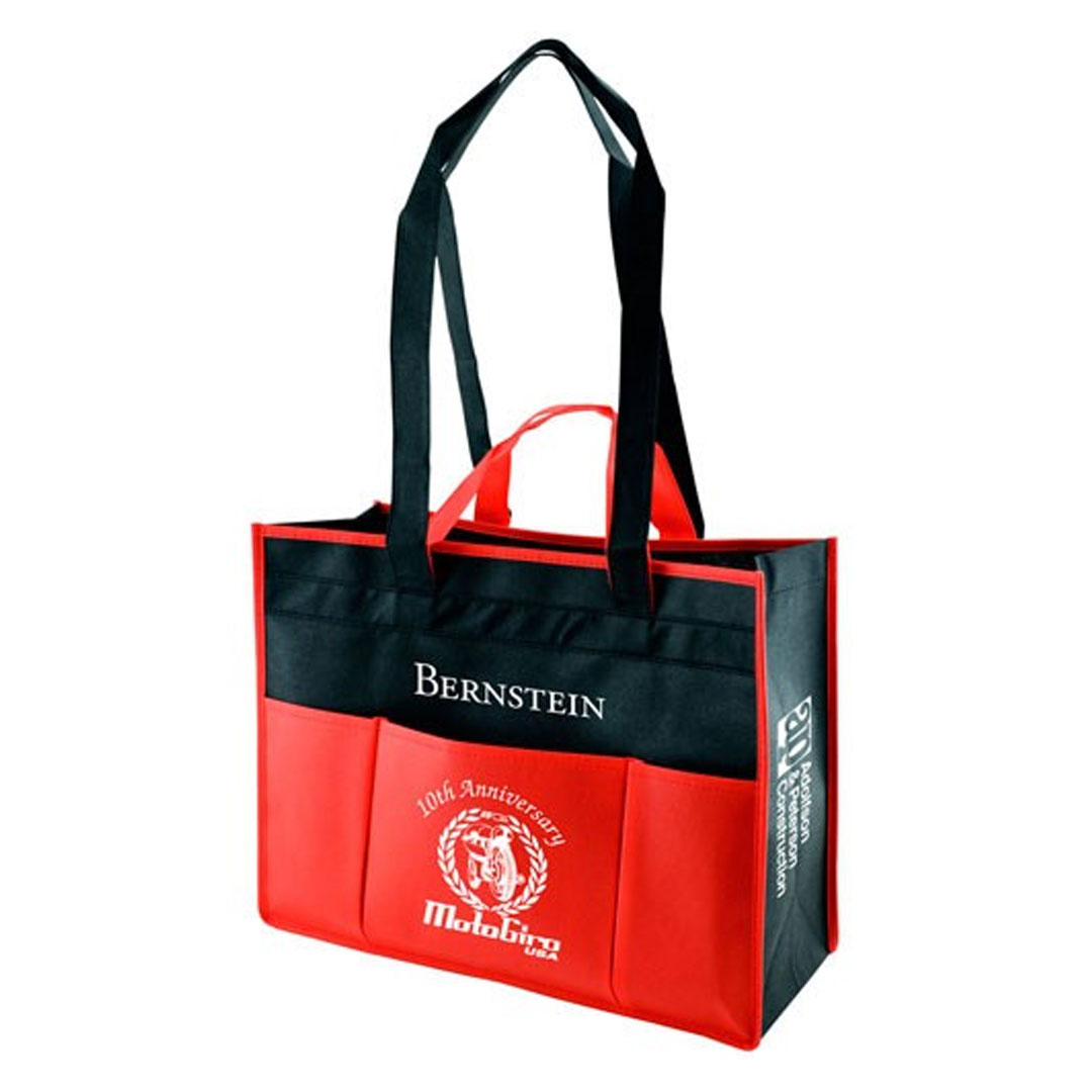 Picture of Multi Pocket Two Tone Tote Bag