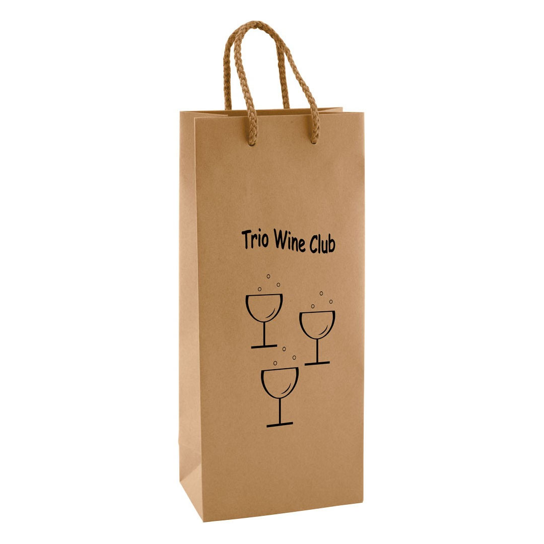 Picture of Natural Kraft Single Bottle Eurotote Bag