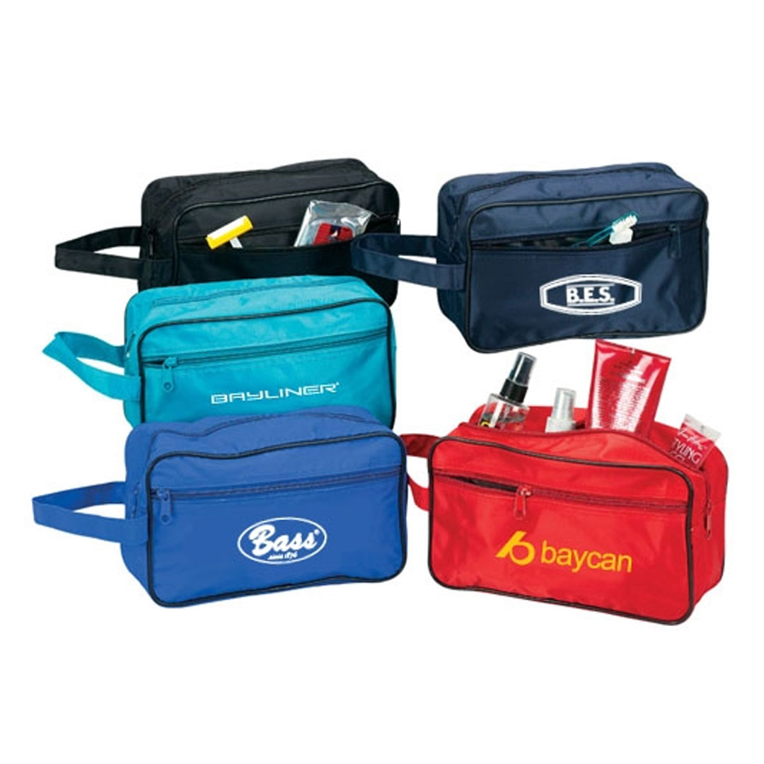Picture of Poly PVC Backing Toiletry Travel Bag