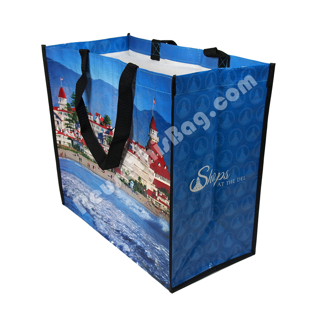 Picture of Recycled Plastic Laminated Beach Bag
