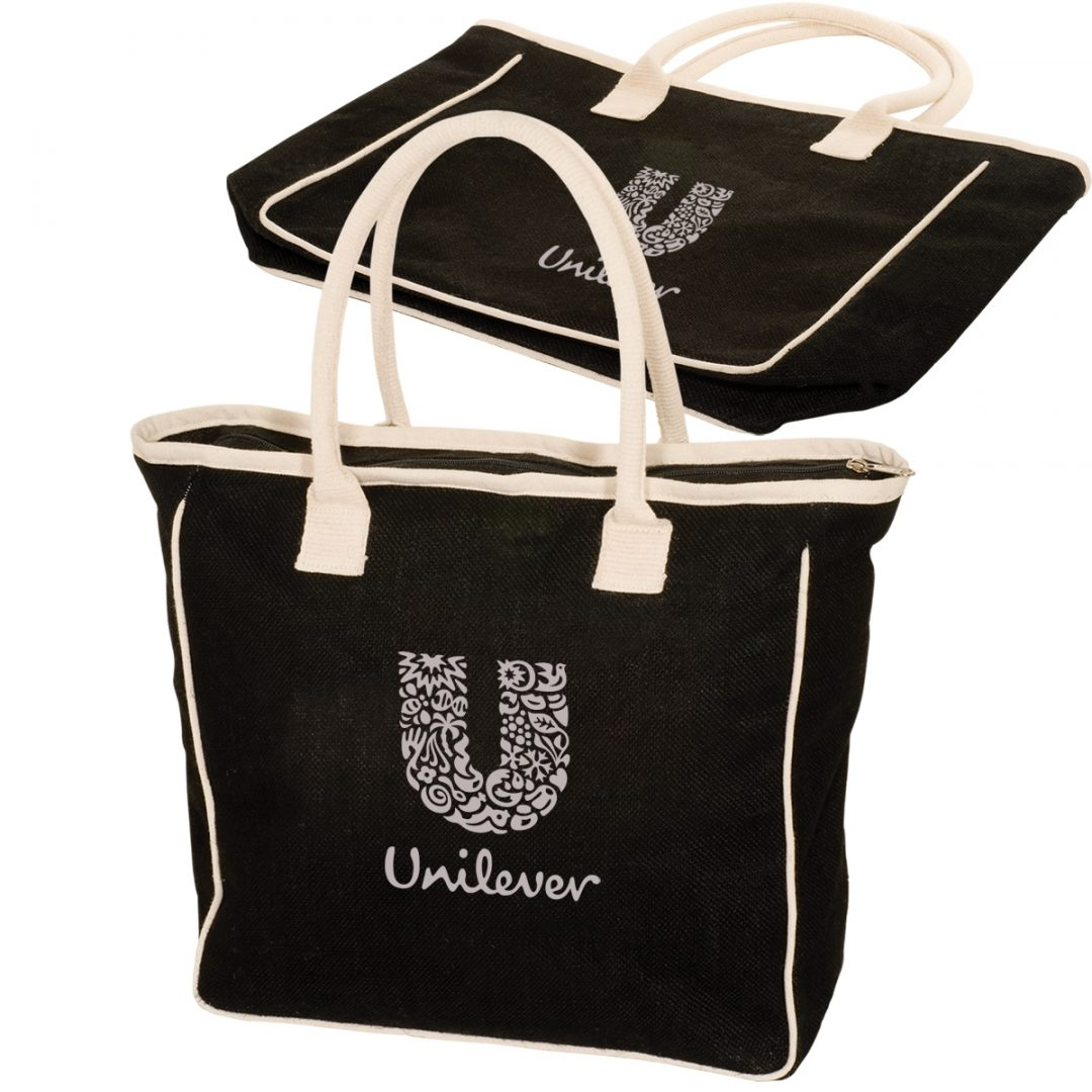 Picture of Seville Jute/Canvas Tote Bag