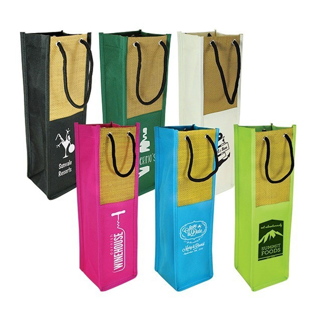 Picture of Sicily Single Wine Bag with Handles