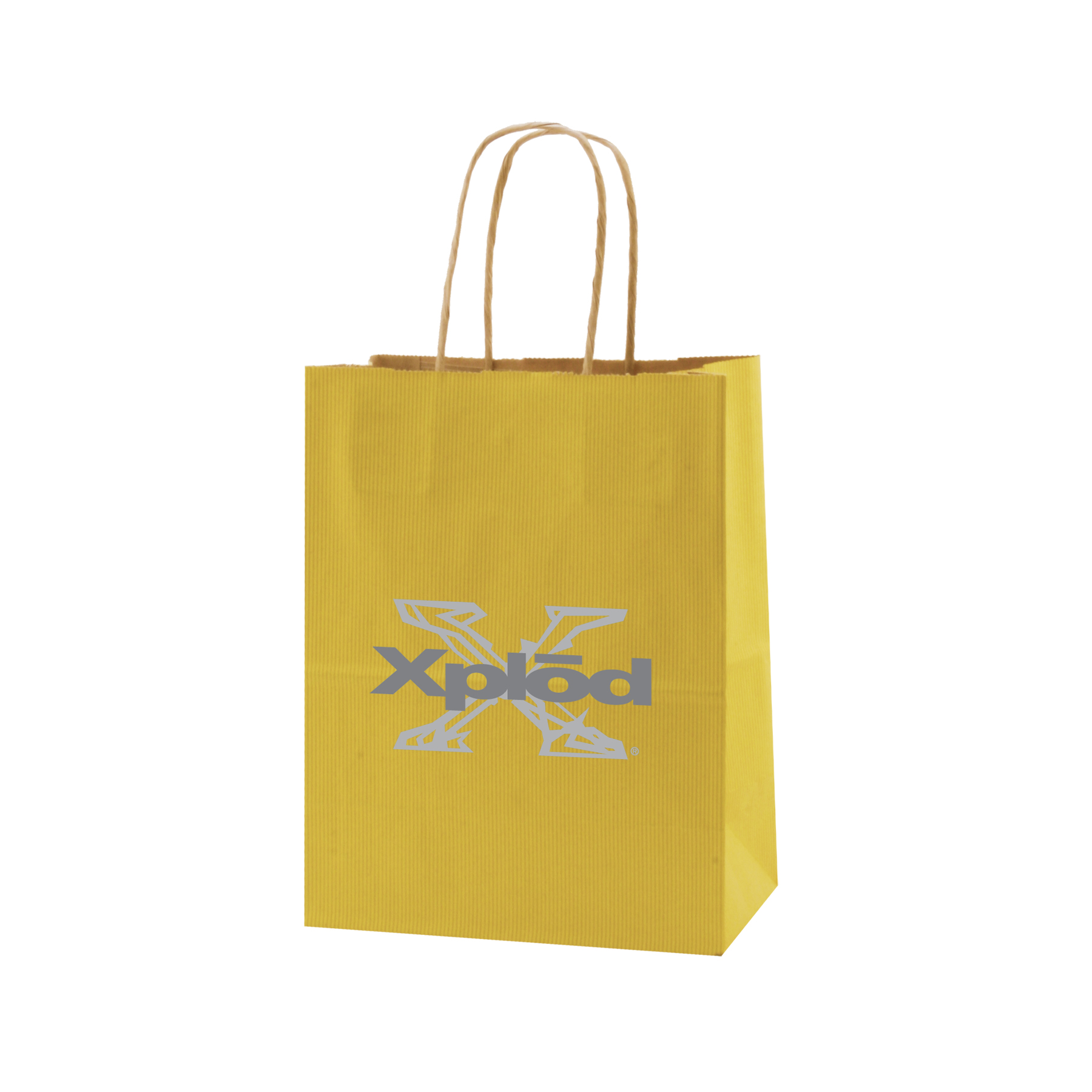Picture of Striped Tinted Kraft Shopping Bag