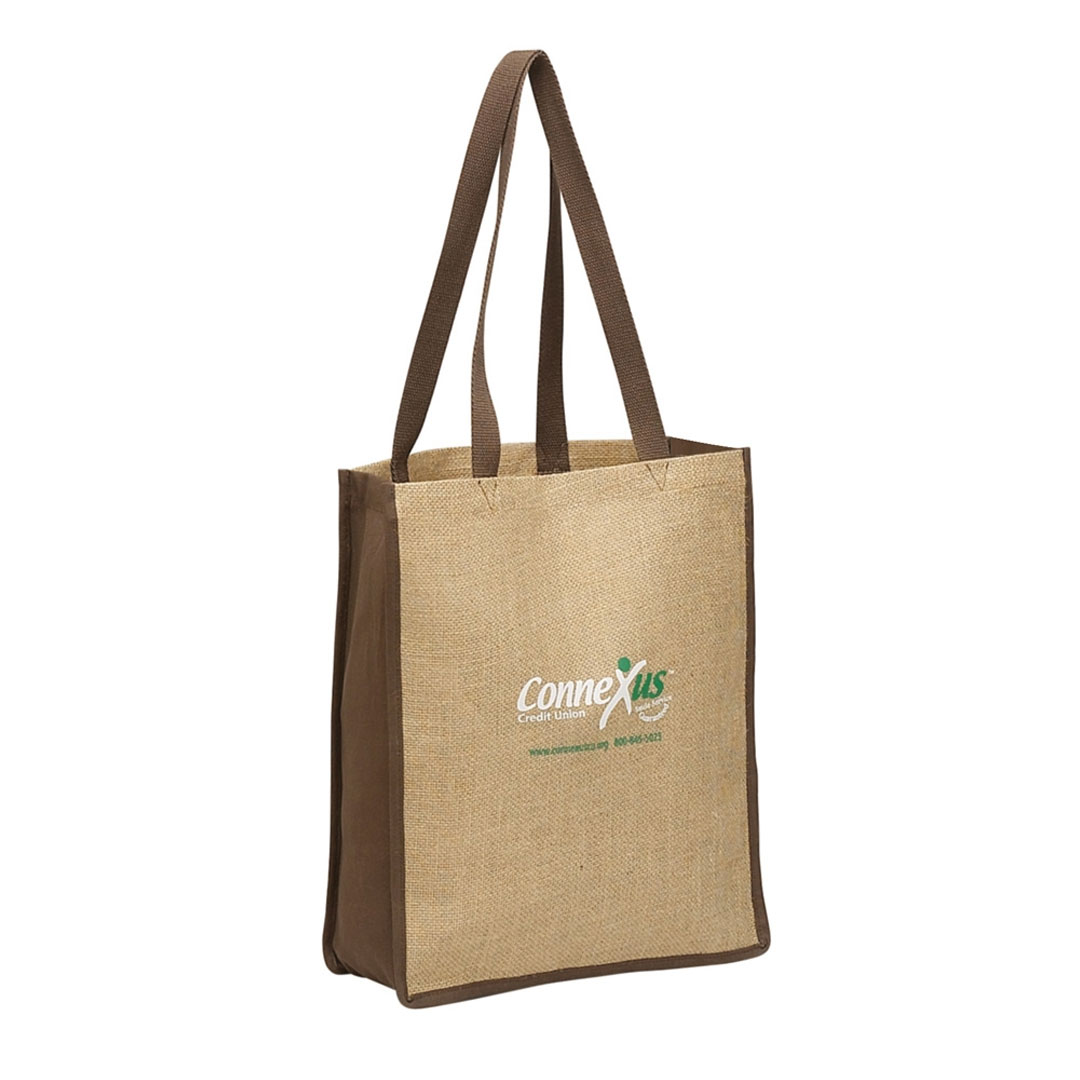 Picture of Vertical Jute Tote Bag w/ Wide Mouth